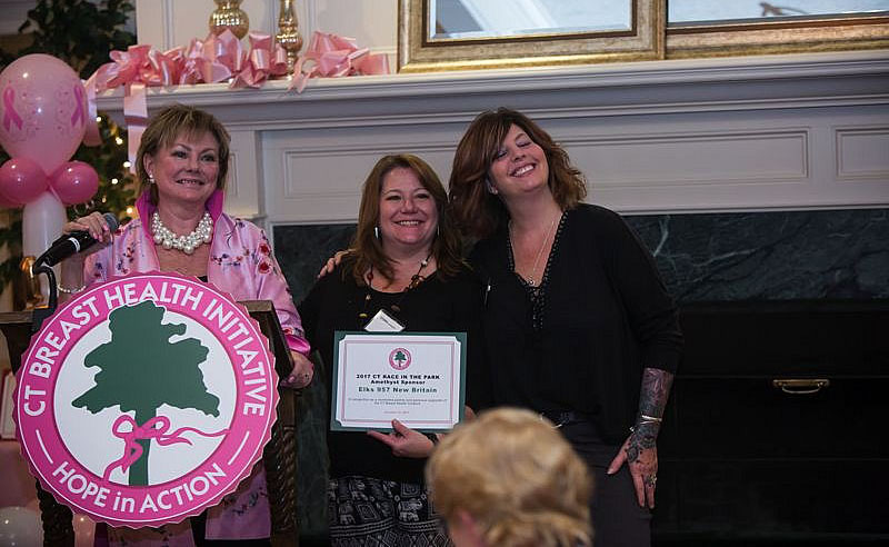 L-R  Me, President, Marsha Goldstein and Judy D'Onofrio, Grants Co-Chairs.